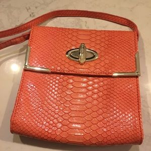 Gianni Bini snake embossed crossbody bag.